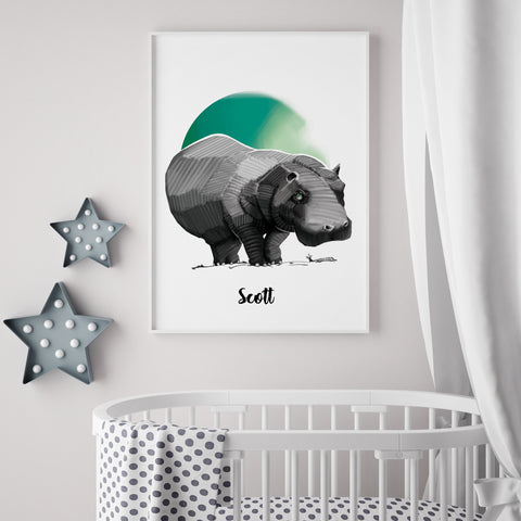 Hugo the Hippo (Print)- By HM