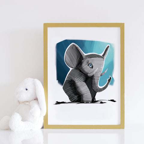 Orville the Elephant (Print)- By HM