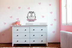 owl wall sticker girl nursery decal | Shenasi Concept