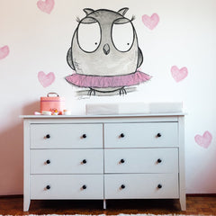 owl wall sticker nursery decal | Shenasi Concept