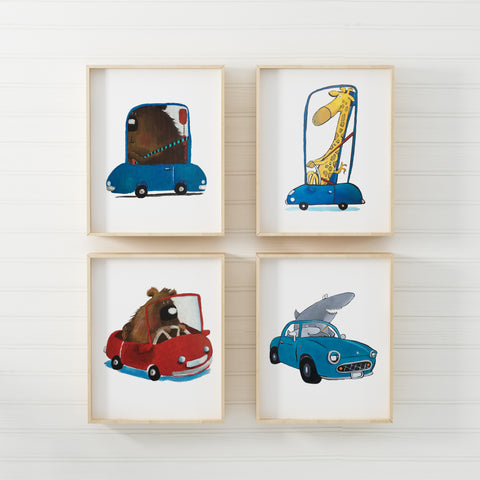 Set of 4 Drivers (Print)- By LS