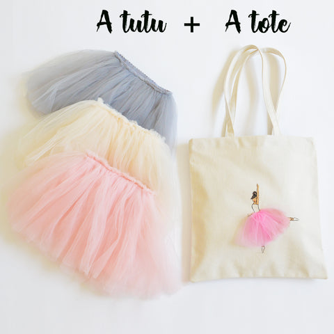 Gift Bundle C - A Tutu & A Tote - Girls Gift Set