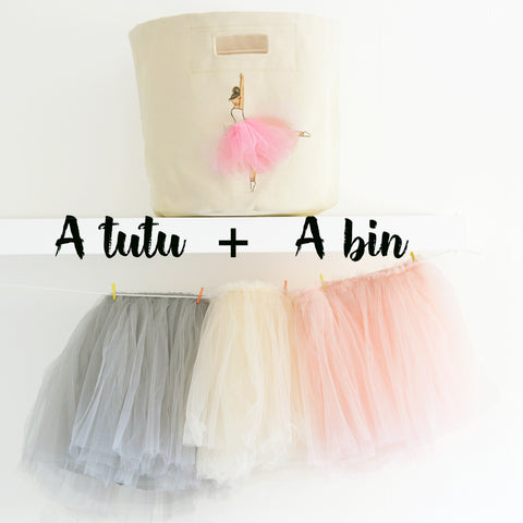 Gift Bundle B  - A Tutu & A Bin - Girls Gift Set