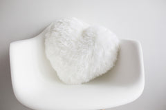 Heart Pillow White - Nursery Decor | Shenasi Concept