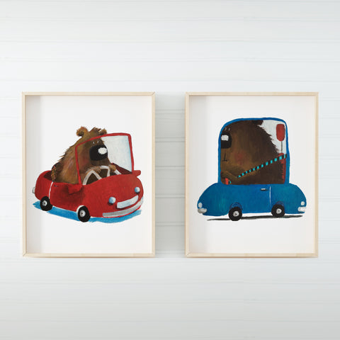 Set of 2 Drivers (Print)- By LS