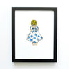 girls room decor set - girl in polka dot dress - shenasi concept