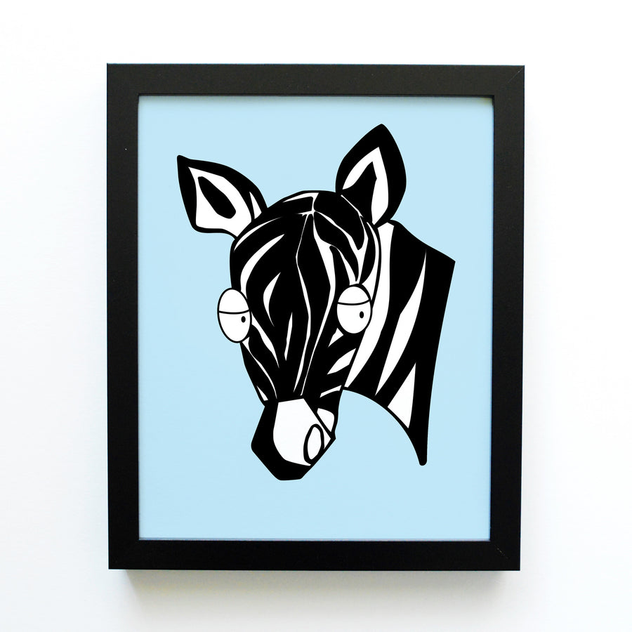 boy nursery art print - safari animals - zebra - shenasi concept