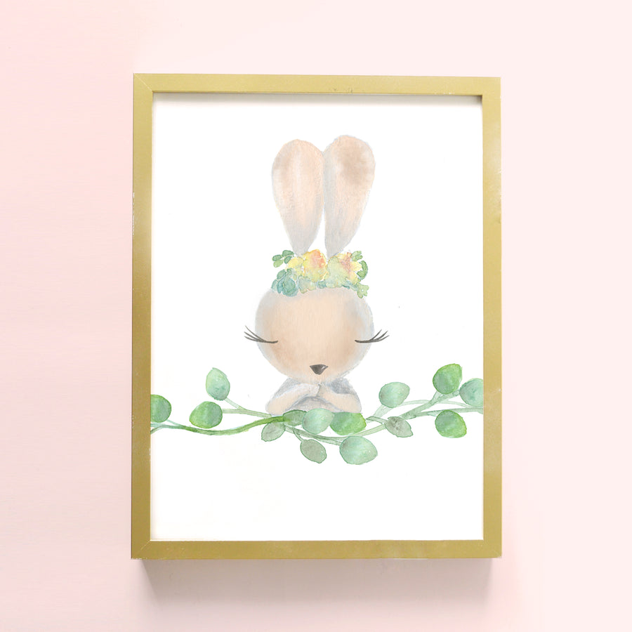 bunny rabbit nursery art | Shenasi Concept