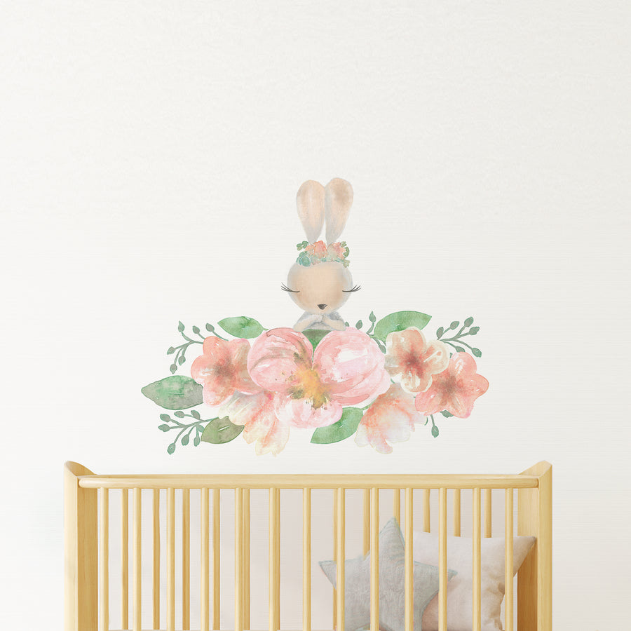 bunny rabbit nursery wall decal | Shenasi Concept