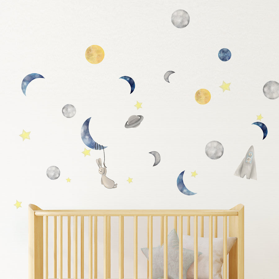 space moon star wall decal| Shenasi Concept