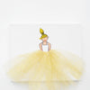 Girls Wall Art - Ballerina Art Golden Tutu | Shenasi Concept