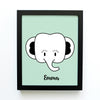 boy nursery art print - safari animals elephant - shenasi concept