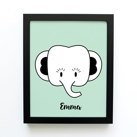 Cindy the Elephant - Jungle Animal (Print)