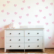 pink hearts nursery girls room wall decal | Peppy Lu