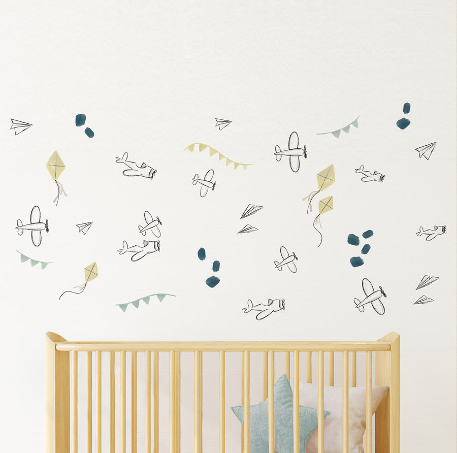 Kites & Airplanes  - Wall Decal