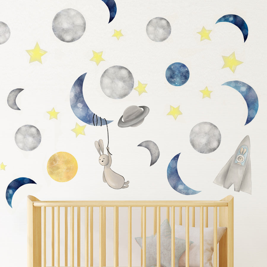 Captain Bun in Space - Wall Decal