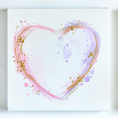Delilah- Abstract Heart Wall Art