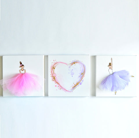 Dahlia Wall Art Set