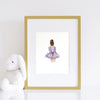 girls room decor set - girl in purple dress - shenasi concept