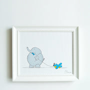 Hand Painted Boys Nursery Decor - Bob Elephant Art | Shenasi Concept