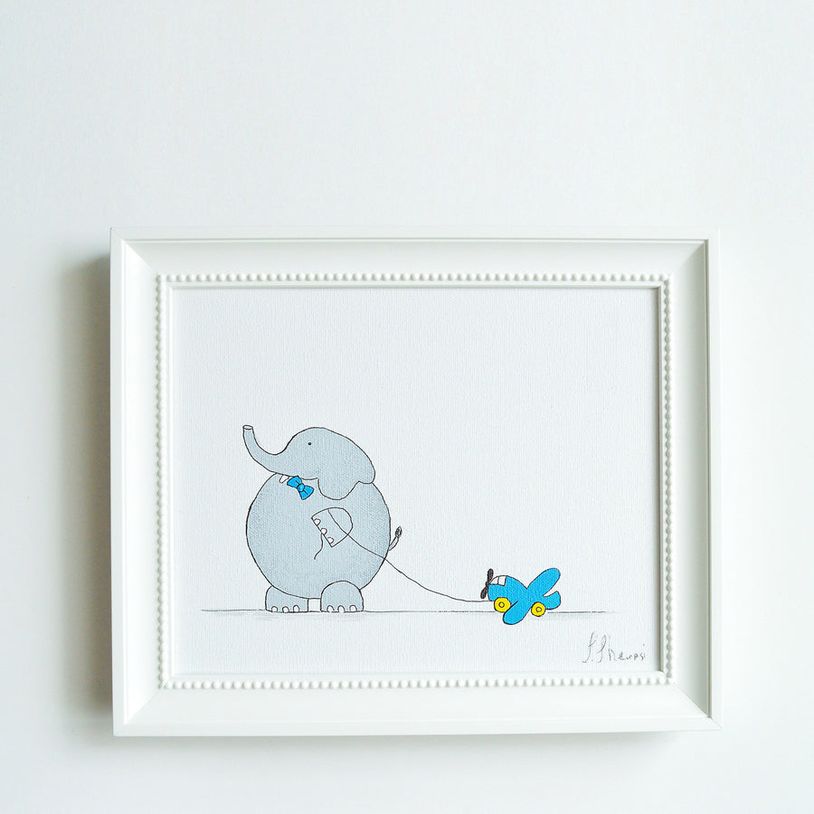 Hand Painted Nursery Canvas Art For Kids - Elephant | Shenasi Concept