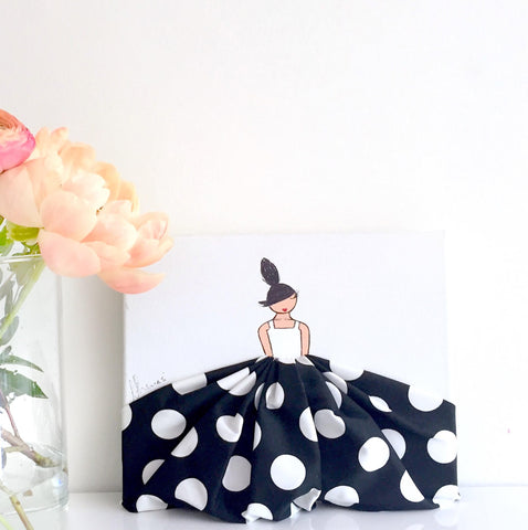 Nikki Wall Art - Polkadot Gown