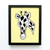 boy nursery art print - safari animals giraffe - shenasi concept