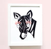 Girl Nursery Decor - Mildred Zebra Art Print | Shenasi Concept