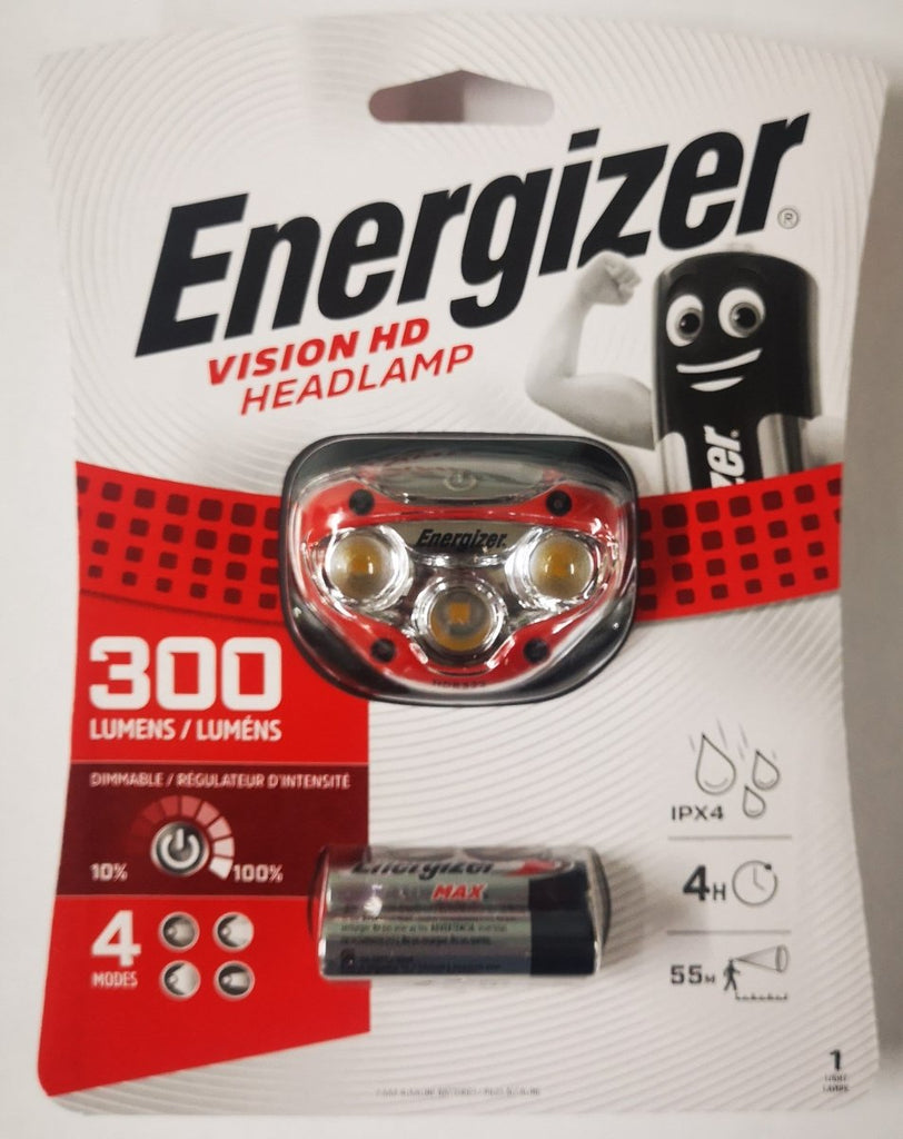 Energizer Vision HD Headlamp 300 Lumens - Stil Fishingheadlight