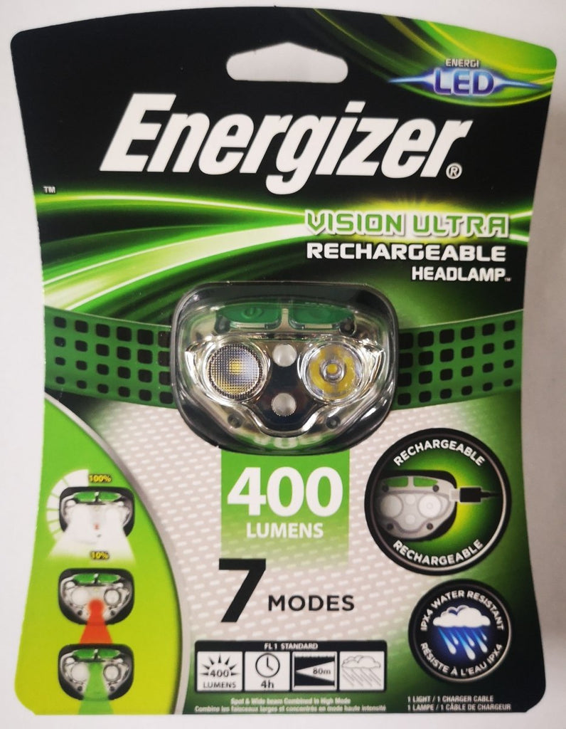 Energizer Vision Ultra Rechargeable 400 Lumens Headlamp - Stil Fishingheadlight