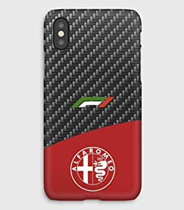 6 5 5SE 4 5C 8+ 6+ 8 Leather & Alfa Romeo Cover iPhone XXSXS