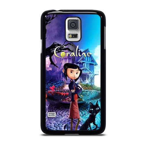 coque custodia cover fundas hoesjes j3 J5 J6 s20 s10 s9 s8 s7 s6 s5 plus edge D18727 CORALINE CARTOON #2 Samsung Galaxy S5 Case