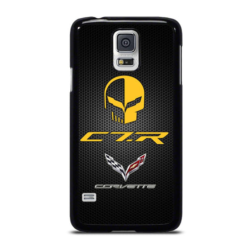 coque custodia cover fundas hoesjes j3 J5 J6 s20 s10 s9 s8 s7 s6 s5 plus edge D19104 CORVETTE RACING JAKE SKULL Samsung Galaxy S5 Case