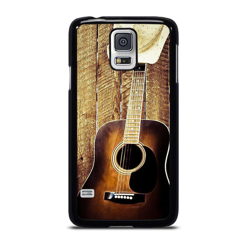 coque custodia cover fundas hoesjes j3 J5 J6 s20 s10 s9 s8 s7 s6 s5 plus edge D19257 COUNTRY GUITAR COWBOY #1 Samsung Galaxy S5 Case