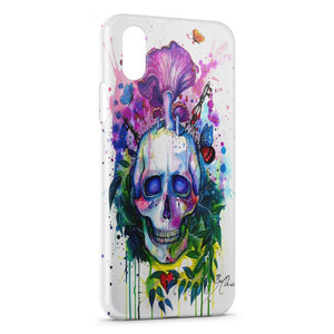 Custodia Cover iPhone XR Psychedelic Skull paint