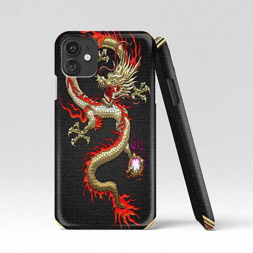 coque custodia cover case fundas hoesjes iphone 11 pro max 5 6 6s 7 8 plus x xs xr se2020 pas cher p9186 Golden Chinese Dragon Fucanglong