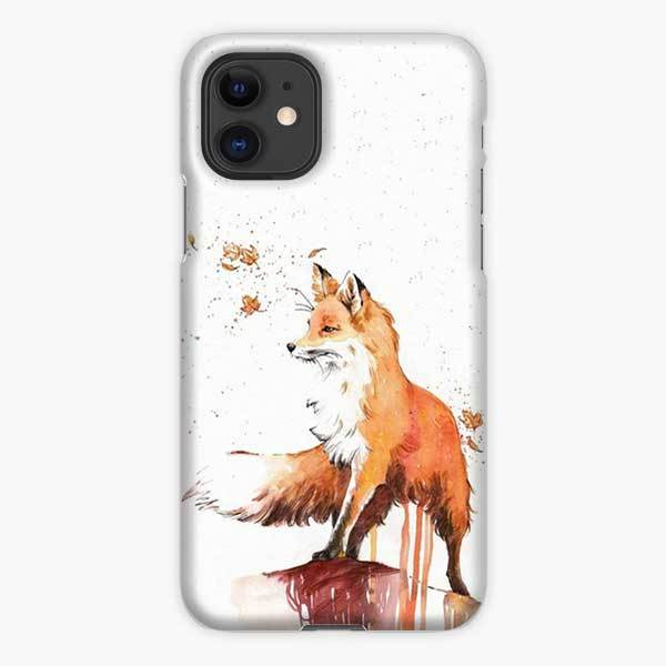 Custodia Cover iphone 11 Pro Max Kitsune Fox And Wisps Watercolor