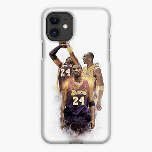 Custodia Cover iphone 11 Pro Max Kobe Bryant Black Mamba Lakers 24 Nba Smoke Brush