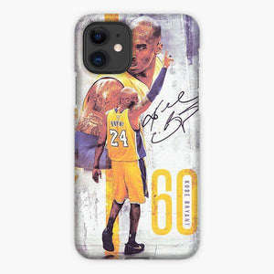 Custodia Cover iphone 11 Pro Max Kobe Bryant La Lakers Brush Watercolor