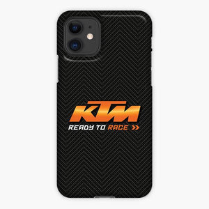 Custodia Cover iphone 11 Pro Max Ktm Ready To Race Logo Carbon