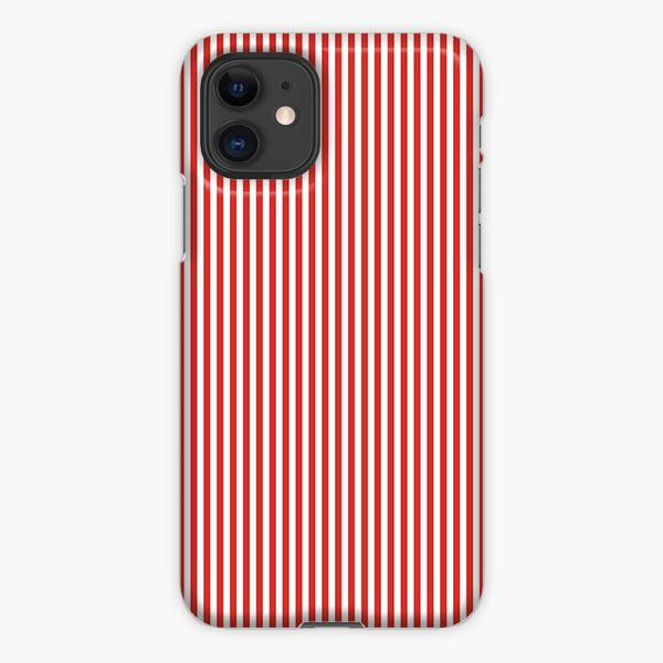 Custodia Cover iphone 11 Pro Max Large Christmas Red And White Cabana Small Line