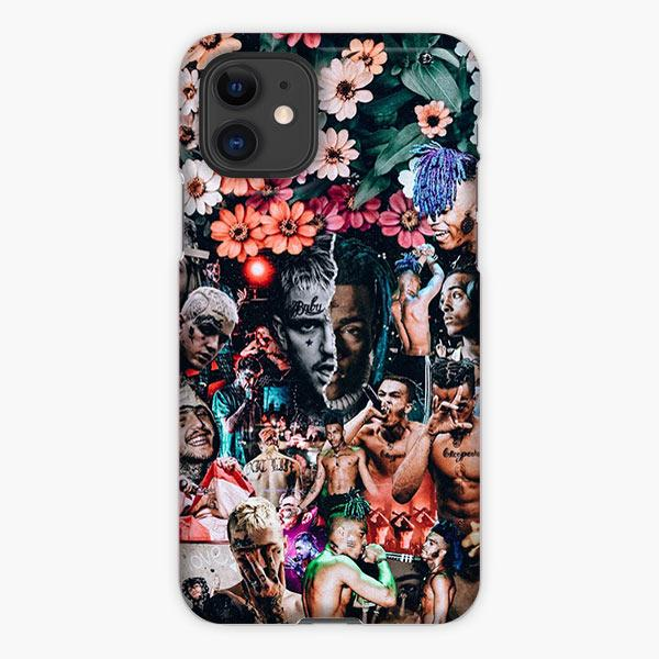 Custodia Cover iphone 11 Pro Max Lil Peep And Xxxtentacion Collage Photo Flower