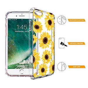MOSNOVO Cover iPhone 8/Cover iPhone 7 Girasoli Fiori Floral