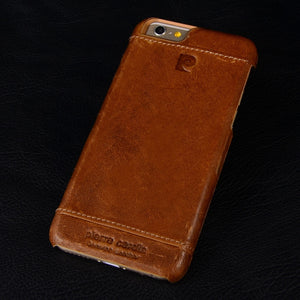 Pierre Cardin Genuine Leather Hard Back Case Cover For iPhone X 8
