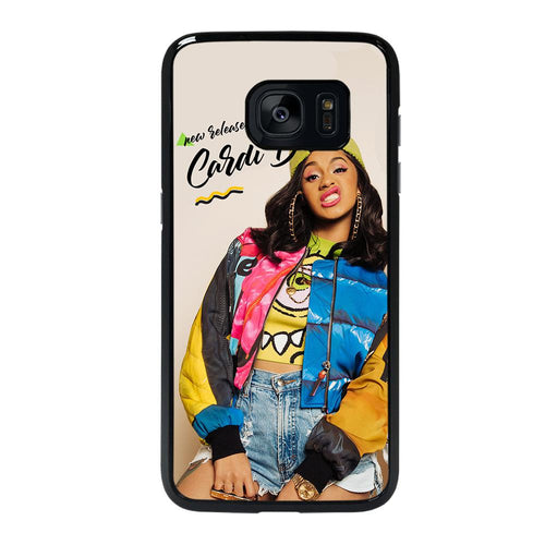 coque custodia cover fundas hoesjes j3 J5 J6 s20 s10 s9 s8 s7 s6 s5 plus edge D39090 RAPPER CARDI B #5 Samsung galaxy s7 edge Case