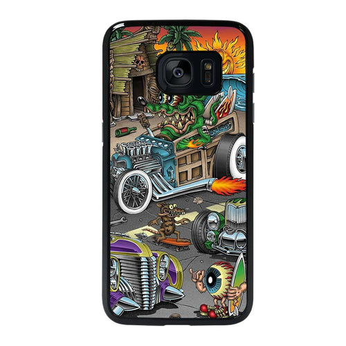 coque custodia cover fundas hoesjes j3 J5 J6 s20 s10 s9 s8 s7 s6 s5 plus edge D39175 RAT FINK SPEEDLESS #2 Samsung galaxy s7 edge Case