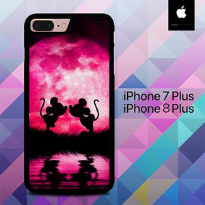 Romance Mickey And Mini Mouse O0804 custodia cover iPhone 7 Plus , iPhone 8 Plus