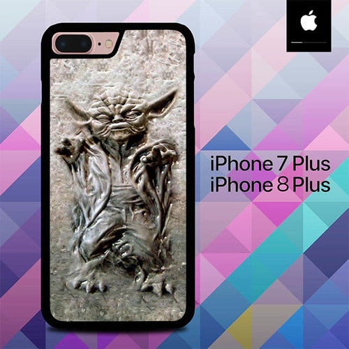 Star Wars Master Yoda in Carbonite O3301 custodia cover iPhone 7 Plus , iPhone 8 Plus