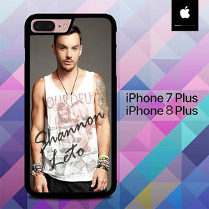 Shannon Leto O3502 custodia cover iPhone 7 Plus , iPhone 8 Plus