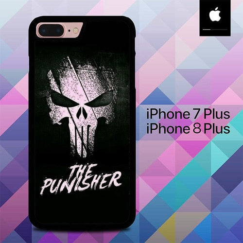 Logo Punisher O6606 custodia cover iPhone 7 Plus , iPhone 8 Plus